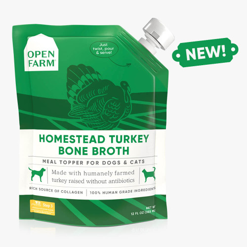 Open Farm Homestead Turkey Bone Broth for Dogs and Cats