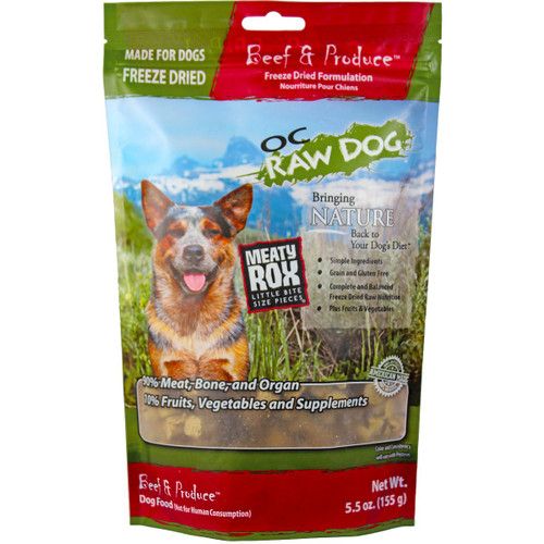 OC Raw Dog Freeze-Dried Beef and Produce