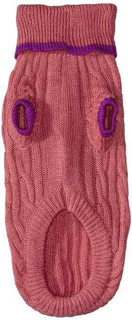 Fashion Pet Classic Cable Knit Sweaters Pink
