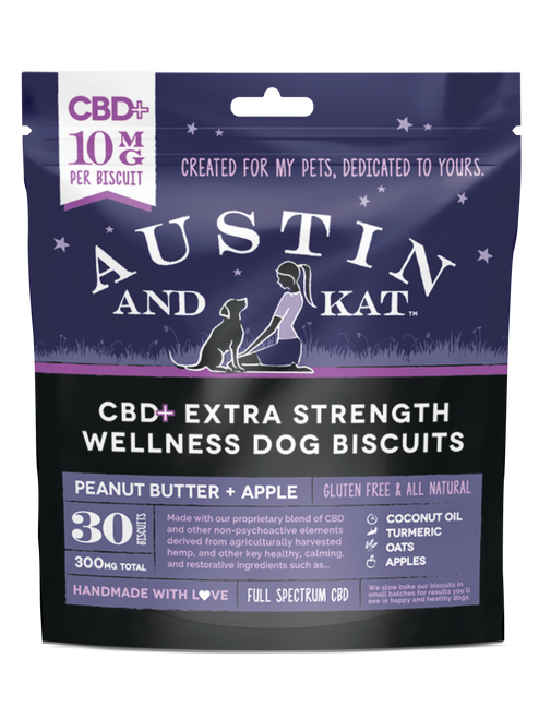 Austin and Kat CBD+ 10mg Apple Biscuits