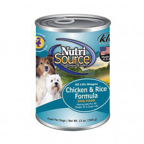 Nutrisource Adult Chicken & Rice Recipe Canned Dog Food