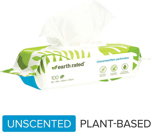 Earth Rated Unscented Dog Wipes 100pc