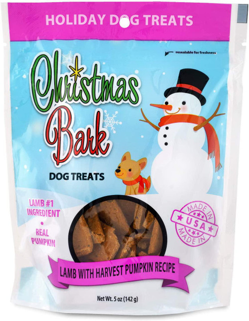 Christmas Bark Lamb with Harvest Pumpkin Recipe Dog Treats