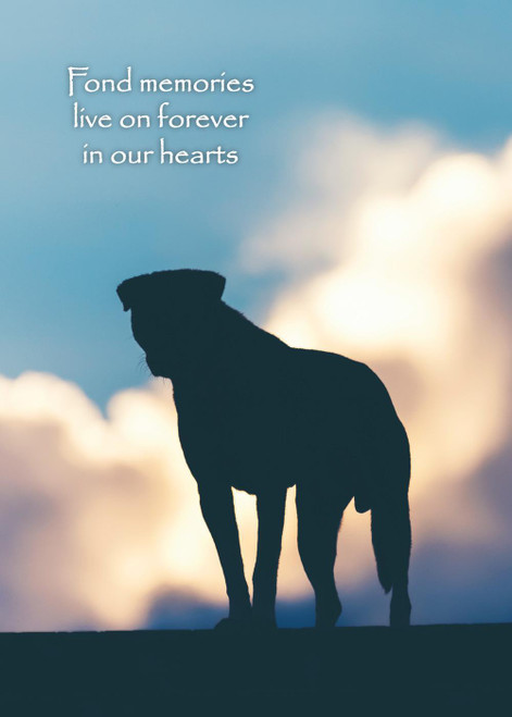 Glory To Dog Fond Memories Pet Bereavement/Sympathy Greeting Card