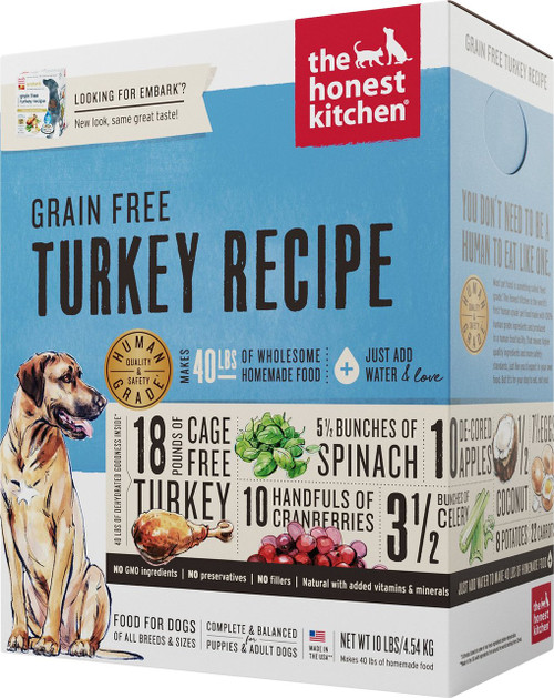 The Honest Kitchen Embark Grain Free/Cage Free Turkey