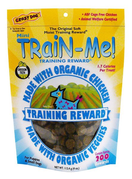 Crazy Dog Train-Me! Organic Chicken Training Rewards
