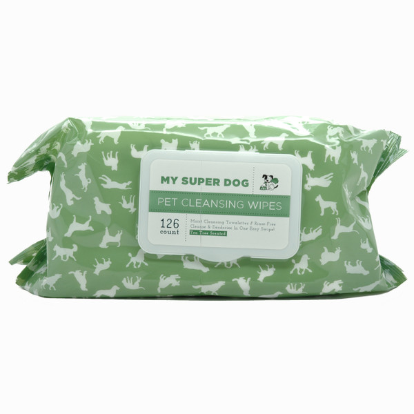 My Super Dog Pet Cleansing Wipes