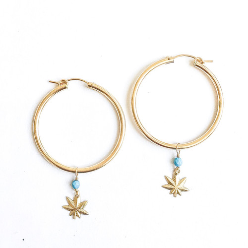 Mary Jane Turquoise Hoops