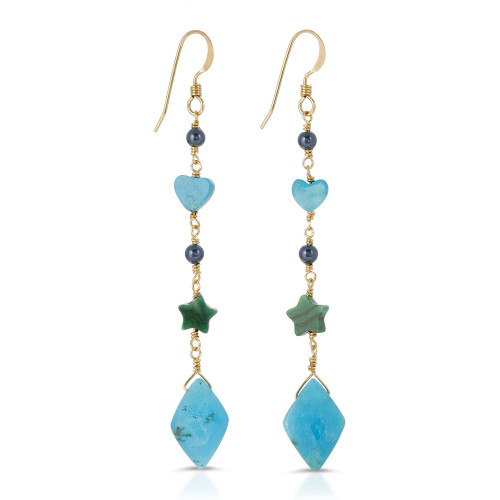 Celeste Blue Onyx Earrings