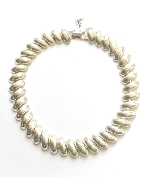 Vintage 80's NAPIER Silver Collar Necklace