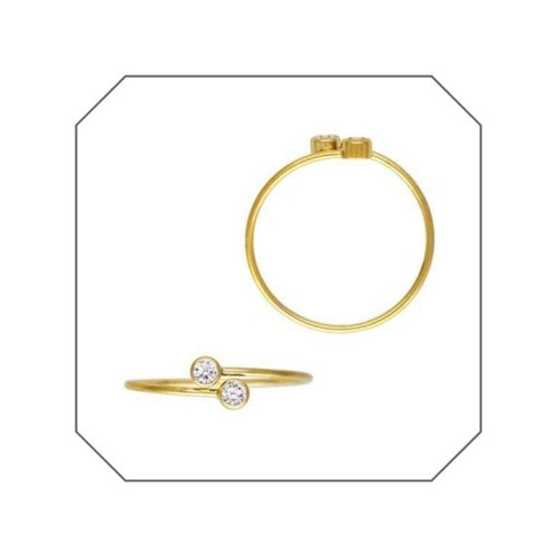 Emma Double CZ Gold Filled Stacking Ring