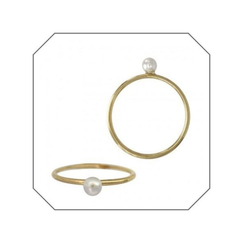 Lily Tiny Pearl Gold Filled Stacking Ring