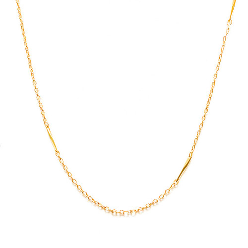 Vintage 80's Chloe Gold Chain Necklace