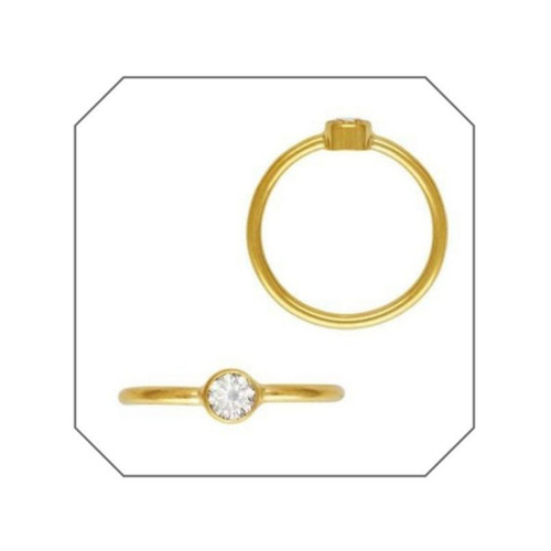 Diana CZ Gold Filled Stacking Ring