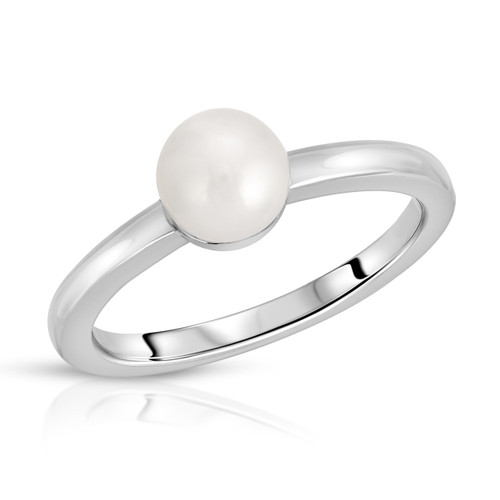 Vintage 80's White Freshwater Pearl Ring