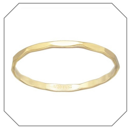 Hannah Hammered Gold Filled Stacking Ring
