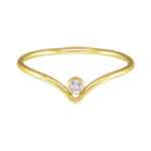 Jessica CZ Chevron Gold Filled Stacking Ring