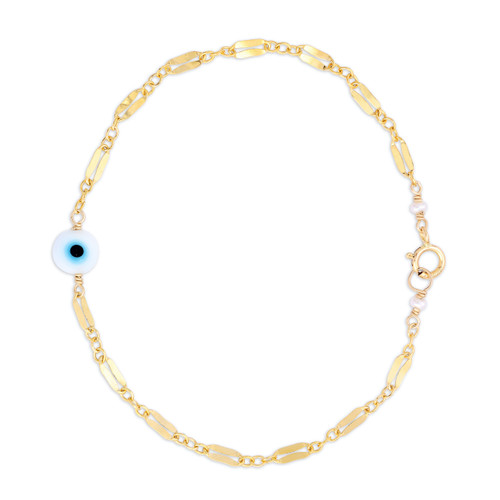 Evil Eye Bracelet on Diamond Chain