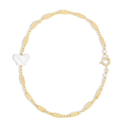 Mother of Pearl Butterfly Bracelet on Diamond Chain