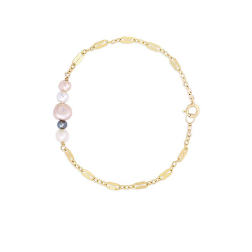 Pearl Barre Bracelet on Diamond Chain