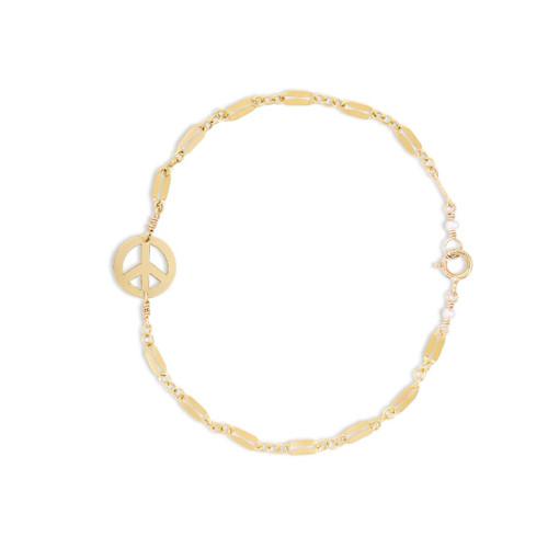 Peace Bracelet on Diamond Chain