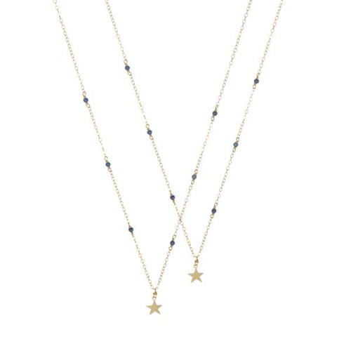 Tiny Gemstone Studded Star Necklace