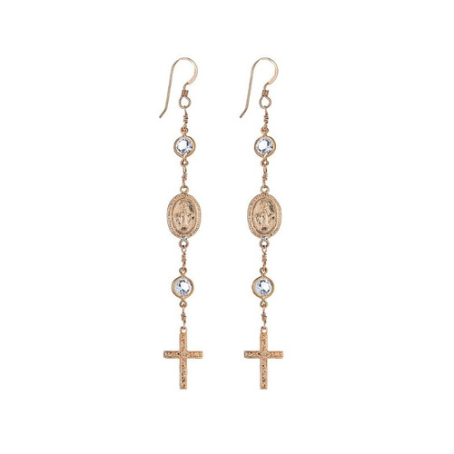 Francesca Rosary Earrings