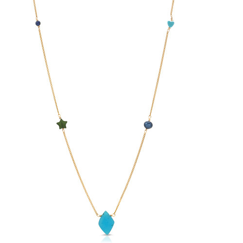 Celeste Blue Onyx Necklace