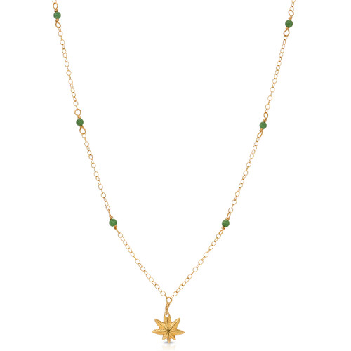 Tiny Gemstone Studded Mary Jane Necklace