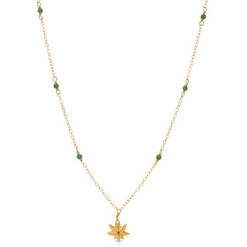 Tiny Gemstone Studded Mary Jane Necklace