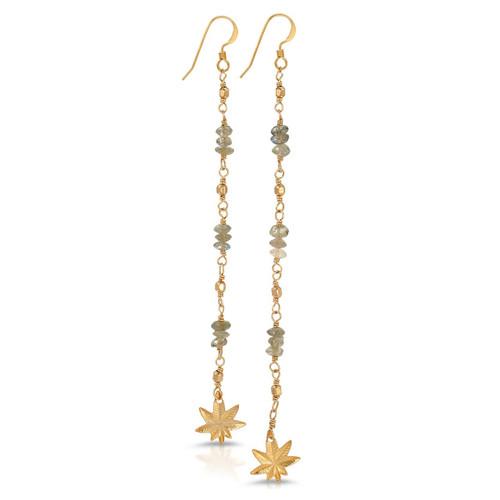 Tiny Gemstone Studded Mary Jane Earrings