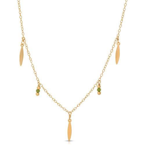 Victorian Baguette Charm Necklace