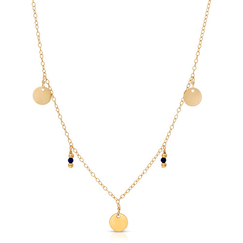 Roma Coin Charm Necklace