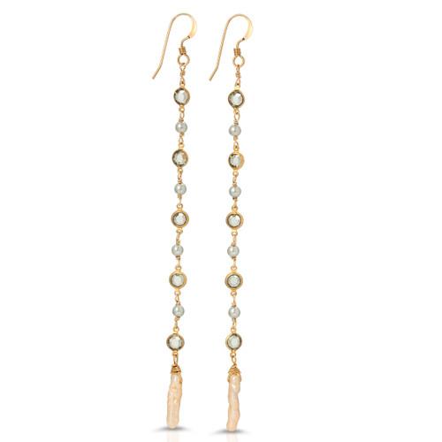 Vivienne Stick Pearl Shoulder Duster Earrings