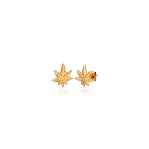 Mary Jane 14kt Gold Stud Earrings