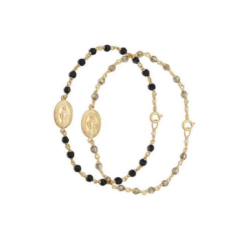 Francesca Crystal Rosary Bracelet