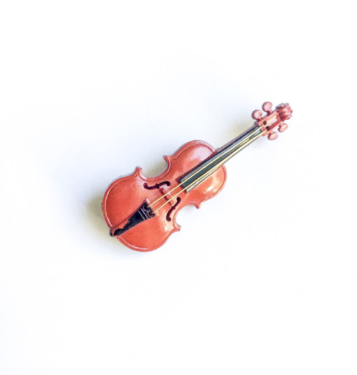 Vintage French Celluloid Violin Pin