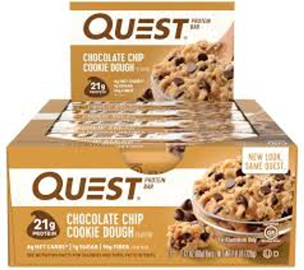 Quest Chocolate Chip Cookie Dough Bars