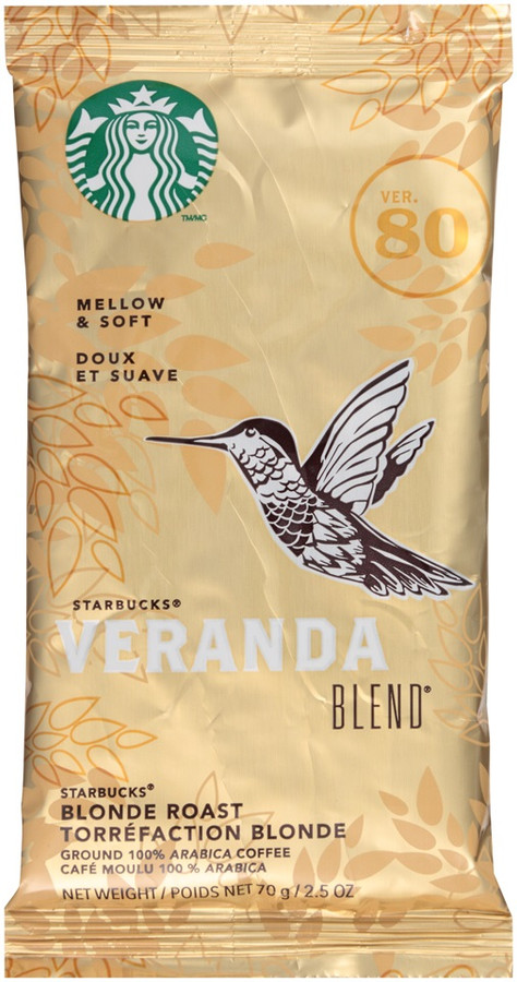 Starbucks Veranda Blonde Roast 2.5oz Ground