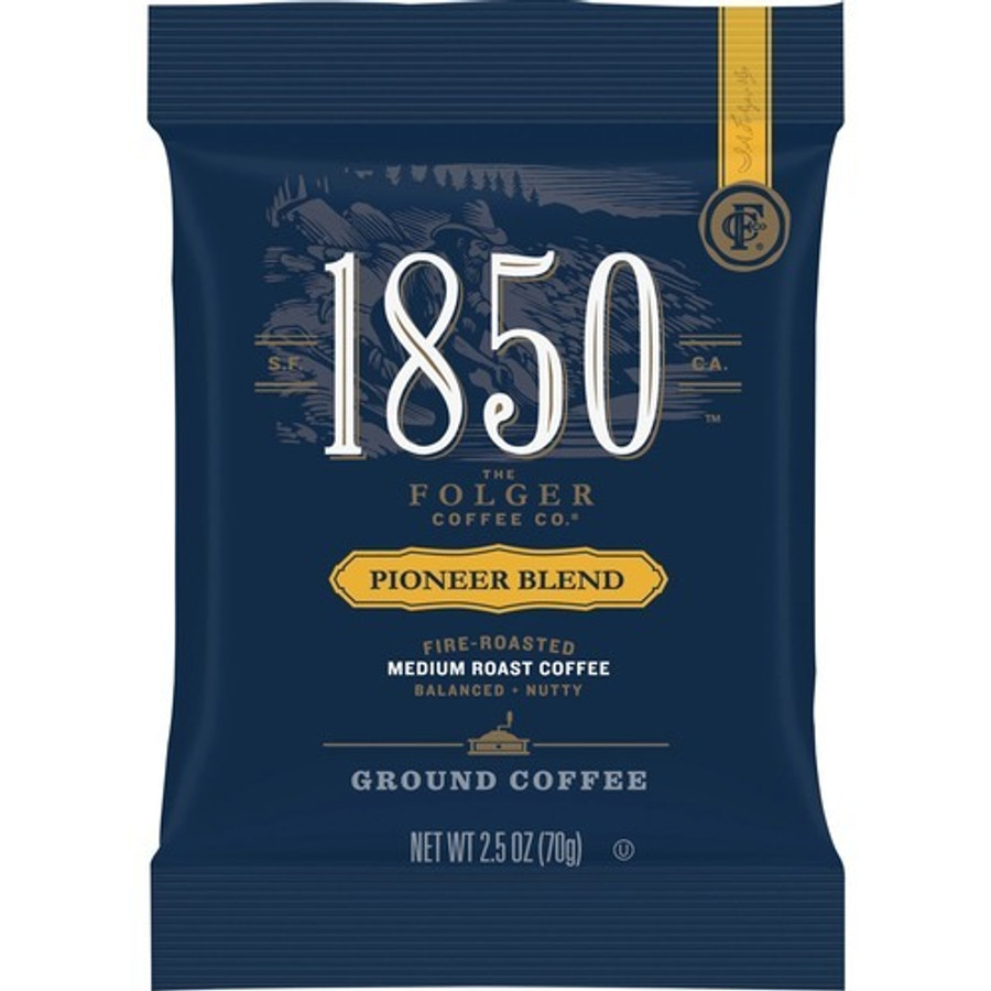 Folgers 1850 Pioneer Blend Ground Coffee Pouches