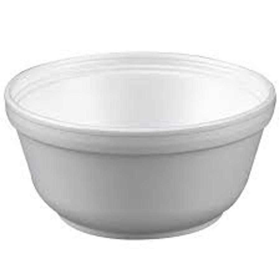 12 oz White Foam Bowl
