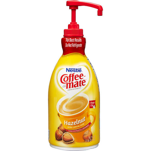 Coffee-Mate Hazelnut Pump Liquid Creamer 1.5 LTR