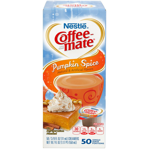 Coffee-Mate Pumpkin Spice Liquid Cream 50ct.