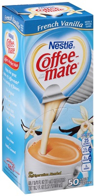 Coffee-mate French Vanilla Liquid Cream 50ct.