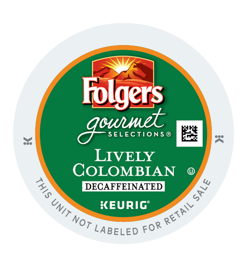 Folgers Lively Colombian DECAF K-Cups