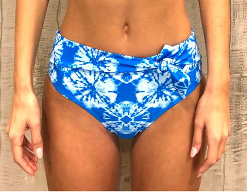 Ocean Tides Tie Front High Waisted