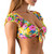 Shell Lei Tie Front Crop Top