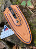 Gentleman's Classic Leather Pocket Sheath - Russet Skirting Leather with Royal Blue Thread