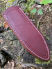 Delta Shield Standard Leather Belt Sheath. Burgundy English Bridle leather with white thread shown