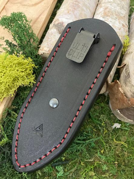 Delta TrueLock Mini Leather Sheath. Pocket Sheath. Black Hermann Oak Leather.